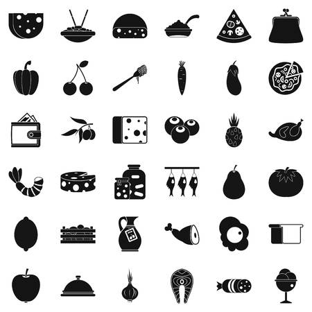 egg roll: Gastronomy icons set, simple style