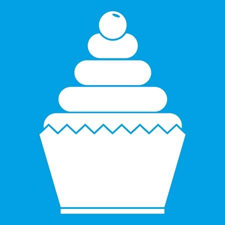 Cupcake icon white Illustration