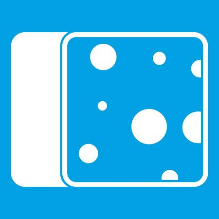 cheez: Cheese icon white. Vector illustration. Illustration