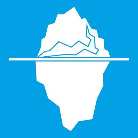 Iceberg icon illustration. Illustration