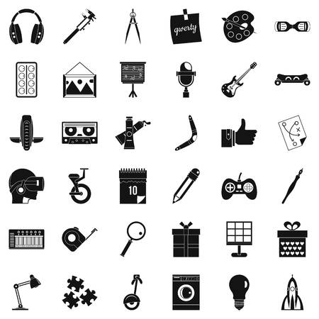 Creative business icons set, simple style Illustration