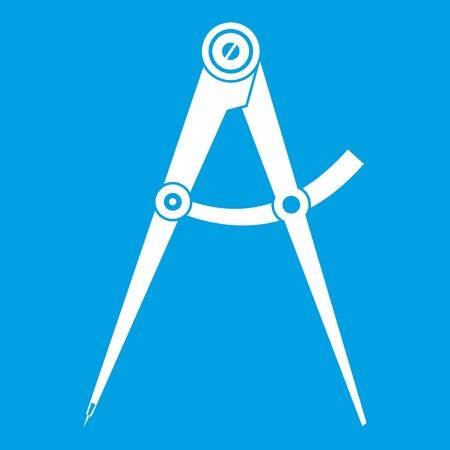 Compass tool icon white