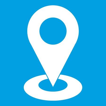 Mappa puntatore icona isolato su sfondo blu illustrazione vettoriale