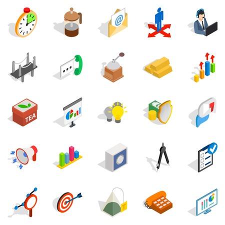 Model icons set, isometric style