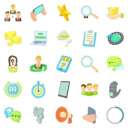 Buzz icons set, cartoon style