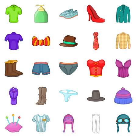 robo: Shorts iconos conjunto, estilo de dibujos animados