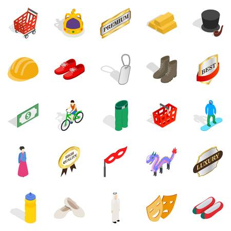 sewing machines: Own icons set, isometric style