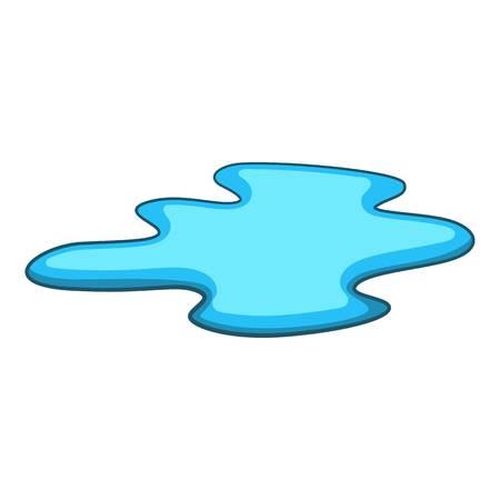 水アイコン、漫画スタイルの水たまり  イラスト・ベクター素材