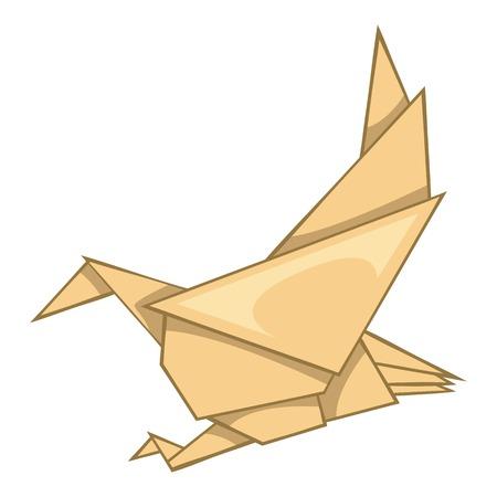Eagle origami icon, cartoon style