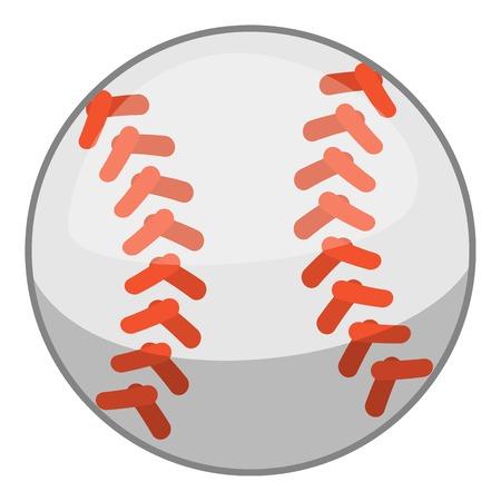 Baseball ball icon, cartoon style