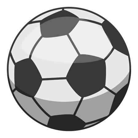 Soccer ball icon, cartoon style