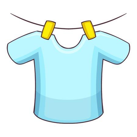 Overhemd op het touw pictogram, cartoon stijl Stock Illustratie