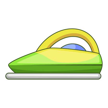 Steam iron icon, cartoon style