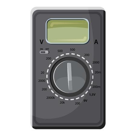 Multimeter, voltmeter icon, cartoon style Vector Illustration