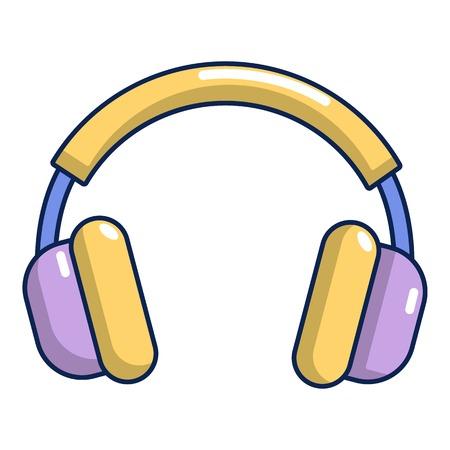 Headphones icon, cartoon style Illustration