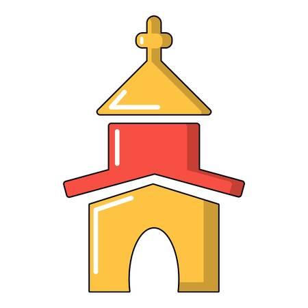 Icône de l'église, style de dessin animé
