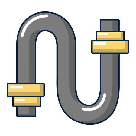 sewer: Sewer pipe icon, cartoon style Illustration