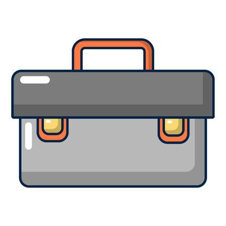 Icône de cas de plombier, style cartoon