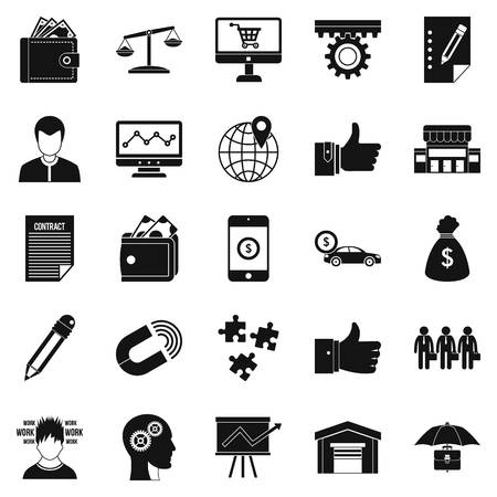 Business start up icons set. Simple set of 25 business start up vector icons for web isolated on white background Illustration