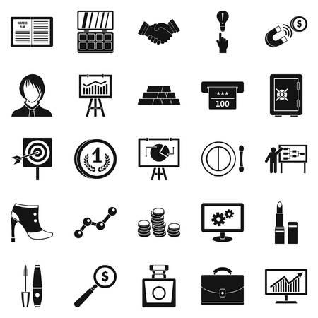 Symposium icons set. Simple set of 25 symposium vector icons for web isolated on white background Illustration