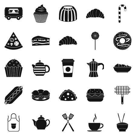 ingestion: Ingestion icons set. Simple set of 25 ingestion vector icons for web isolated on white background Illustration