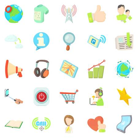 Tinkle icons set. Cartoon set of 25 tinkle vector icons for web isolated on white background Illustration