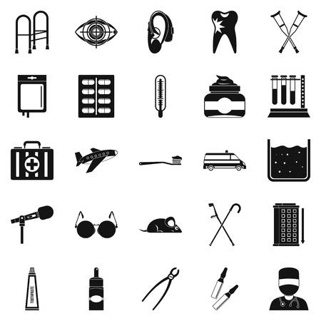 black family: Interest icons set. Simple set of 25 interest vector icons for web isolated on white background