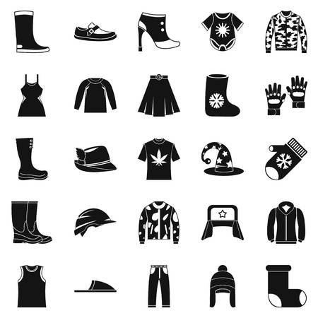 hangers: Purchase of accessories icons set. Simple set of 25 purchase of accessories vector icons for web isolated on white background Illustration