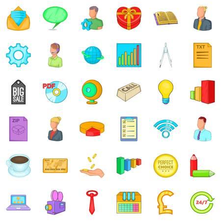 keyword research: Internet marketing icons set. Cartoon style of 36 internet marketing vector icons for web isolated on white background