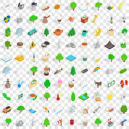 100 stockholm icons set in isometric 3d style for any design vector illustration Stock Vector - 83487970