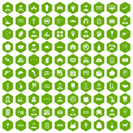 dispatcher: 100 favorite work icons hexagon green