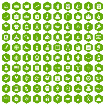 horn of plenty: 100 national holiday icons hexagon green