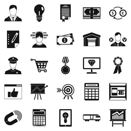 Coffers icons set. Simple set of 25 coffers vector icons for web isolated on white background