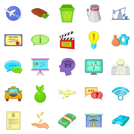 Remuneration icons set. Cartoon set of 25 remuneration vector icons for web isolated on white background