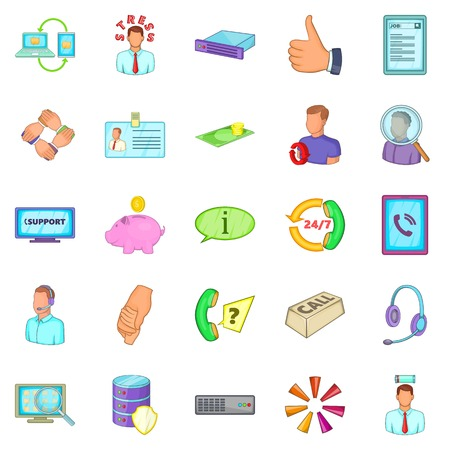 Haggler icons set. Cartoon set of 25 haggler vector icons for web isolated on white background