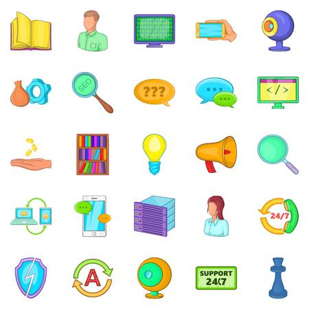 Radioman icons set. Cartoon set of 25 radioman vector icons for web isolated on white background