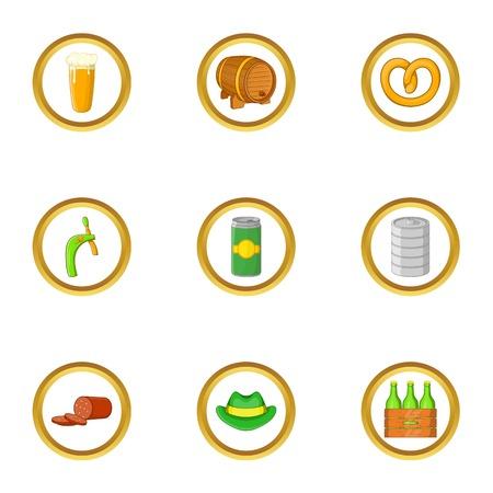 money packs: Irish icon set, cartoon style
