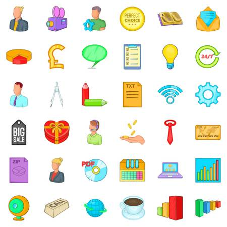 keyword research: Viral marketing icons set. Cartoon style of 36 viral marketing vector icons for web isolated on white background Illustration
