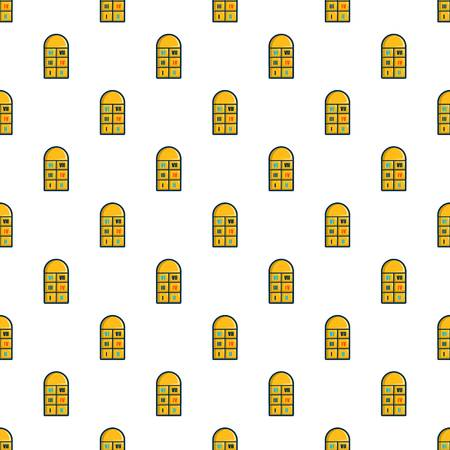 Hopscotch game pattern in cartoon style. Seamless pattern vector illustration
