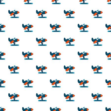 spring balance: Toy airplane pattern in cartoon style. Seamless pattern vector illustration