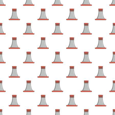 condensation: Cooling smoke tower pattern in cartoon style. Seamless pattern vector illustration Illustration
