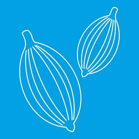 Cardamom icon blue outline style isolated vector illustration. Thin line sign