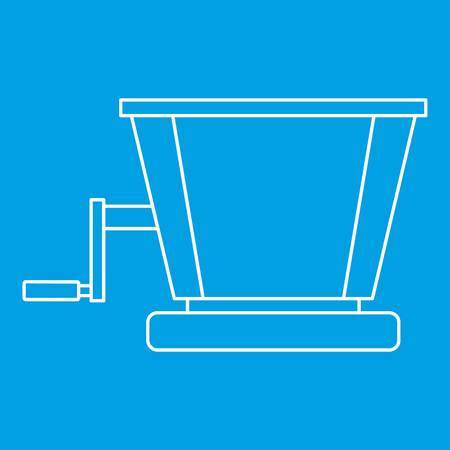 steel mill: Retro juicer icon blue outline style isolated vector illustration. Thin line sign