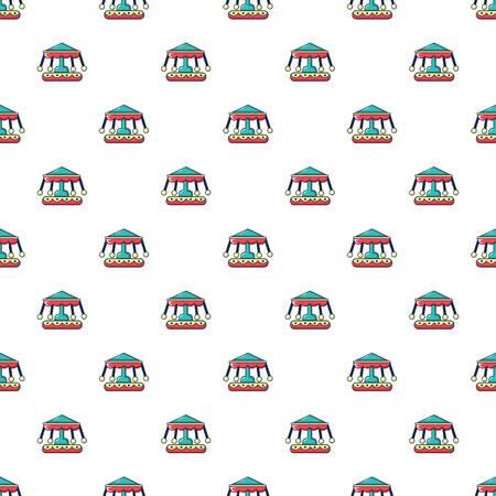 turnabout: Carousel pattern in cartoon style. Seamless pattern vector illustration Illustration