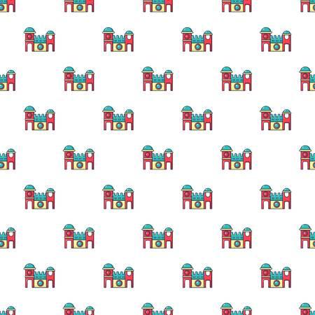 playfull: Bounce house pattern in cartoon style. Seamless pattern vector illustration