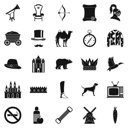 Horseman icons set. Simple set of 25 horseman vector icons for web isolated on white background Ilustração