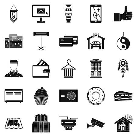 Lodge icons set. Simple set of 25 lodge vector icons for web isolated on white background Vectores