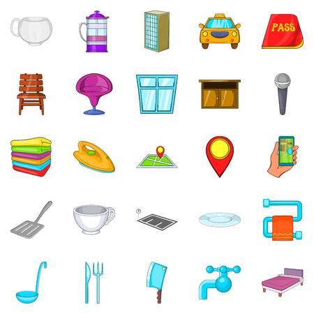 Iconos de Bursa establecidos. Conjunto de dibujos animados de 25 iconos de vector bursa para web aislado sobre fondo blanco