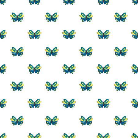 Butterfly papilio zagreus pattern in cartoon style. Seamless pattern vector illustration
