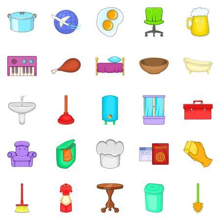 Conjunto de iconos de la comunidad. Conjunto de dibujos animados de 25 iconos de vector de la comunidad para la web aisladas sobre fondo blanco